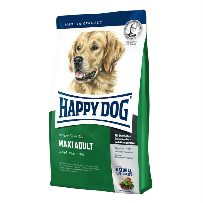 Happy Dog Supreme Fit & Well Adult Maxi Корм для собак крупных пород, 15 кг